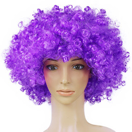 Halloween Wigs Men Canada - Xiu Zhi Mei 165g Best quality Wigs Men Afro Fans Wigs Bulkness Christmas Halloween Carnival Party Short Curly Cosplay Wig