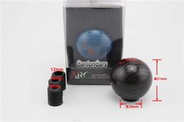 $enCountryForm.capitalKeyWord Canada - Real Carbon Fiber Universal Gear Shift Knob Lever Round Ball Gear Knob For Honda VW BMW