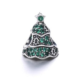 jewelry marked 925 Canada - Christmas Gift Europe Popular Jewelry 925 Sterling Silver Christmas Tree Charms Bead Fits For Snake Bracelet DIY Jewelry Marking