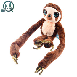 Chinese  Wholesale- MQ The Croods Cartoon Character Long Arms Plush Stuffed Soft Toys Belt Monkey Dolls(Small Size) manufacturers