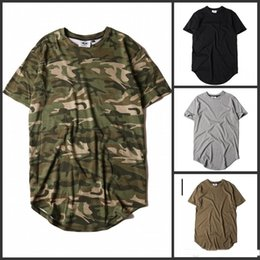Discount tee shirts tyga - Mens Hip Hop Extended T Shirts Fashion 2016 TYGA T Shirt Men Short Sleeve T-shirt Army Green Snapback Tops Tees 6 COLORS