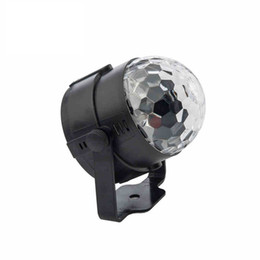 magic lantern UK - Free Shipping Crystal Crystal 5W Lamp Bead Little Magic Ball Stage Light Rotate Lantern Nightclub KTV Beam Bar Light Wedding Karaoke Flash
