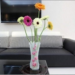 Carbon s s online shopping - PVC Plastic Vase Transparent Foldable Low Carbon Environmental Protection High Quality Home Furnishing Decoration Articles ld H1 R