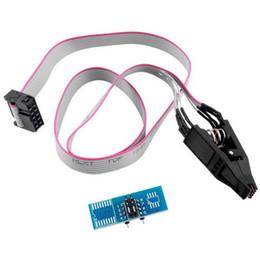Flash Ic Chip NZ - SOIC8 SOP8 Flash Chip IC Test Clips Socket Adpter BIOS 24 25 93 Programmer DT