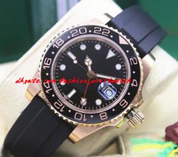 $enCountryForm.capitalKeyWord NZ - Luxury Wristwatch NEW 18k Rose Gold BLACK II 116710 Men Rubber Bracelet Ceramic Watch Automatic Mechanical Movement Watches Top Quality