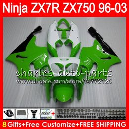 $enCountryForm.capitalKeyWord NZ - 8Gifts 23Colors For KAWASAKI NINJA ZX7R 96 97 98 99 00 01 02 03 green white 18HM4 ZX750 ZX 7R ZX-7R 1996 1997 1998 1999 2000 2003 Fairing