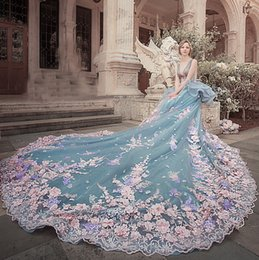 Discount long fairy wedding dresses 2018 long fairy wedding pink 3d floral appliques long wedding dresses charming v neck sexy sheer backless wedding gowns 2017 stunning fairy tulle bridal dresses long fairy wedding junglespirit Image collections