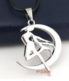 Japanese Fashion Cartoon Canada - New 1 pcs Cartoon Japanese anime Sailor Moon Fashion Pendant Necklace For Men Y--10