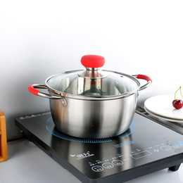 Steel Induction Canada - Stainless Steel one Layer Cooking Pot Stockpot Gas Induction Cooker Soup Pots