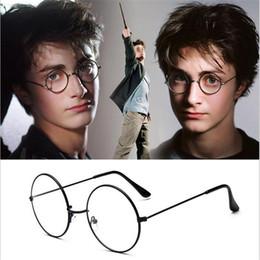 Harry Potter Óculos Rodada Armações de Óculos de Halloween Cosplay de Prata Do Ouro Preto Espelho Simples Moda Óculos Atacado venda por atacado