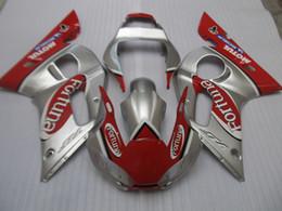 $enCountryForm.capitalKeyWord NZ - Free 7 gifts fairings for Yamaha YZF R6 98 99 00 01 02 silver red motorcycle fairing kit YZFR6 1998-2002 OT32