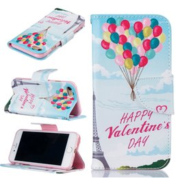 Apple bAlloons online shopping - Balloon Wallet Leather Case For Iphone X S Plus Back Stand Holder Credit Card Holder Slot Phone Cases