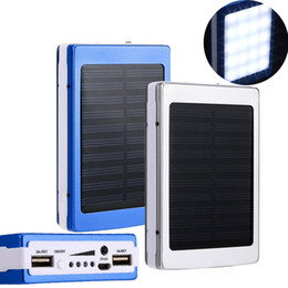 Solar panel charging phone online shopping - 30000 mah Solar Charger and Battery mAh Solar Panel Dual UAB Charging Ports portable power bank with LED Light for All Cell Phone