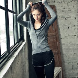 Yoga Pants Jacket Canada - 3 Pieces Women Fitness Yoga Sport Set jacket & Bra & pants Sport Set Gym Clothes Training Suit Running Outdoor