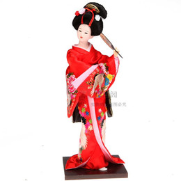 China Japanese Geisha doll ornaments product kimono silk doll Home Furnishing decoration style decor supplier umbrella dolls suppliers