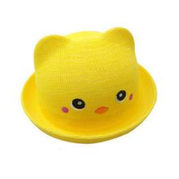 Envío libre de DHL 30 colores casquillos de los cabritos 2017 nueva versión  coreana niños Orecchiette sombrero de paja oso sombrero de paja gorra marea  ... e41941e8af2