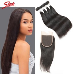 Sleek hair extensions wholesale online sleek hair extensions brazilian straight virgin hair weaves 3 bundles with lace closure unprocessed indian cambodian human hair extensions rebecca sleek brand pmusecretfo Gallery
