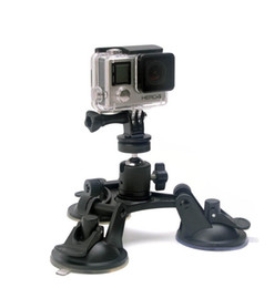 4k gopro 2019 - For Gopro Accessories Car Suction Cup Holder Triangle + Cloud Terrace 360 degree Yuntai for GoPro Hero6 black 5 4 3+ 3 S