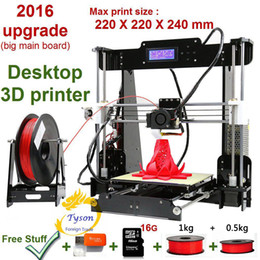 New Upgrade desktop 3D Printer Prusa i5 Size 220*220*240 mm Acrylic Frame LCD 1.5Kg Filament 16G TF Card for gift big main board 3D printers on Sale