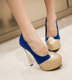 $enCountryForm.capitalKeyWord NZ - Wholesale New Arrival Hot Sale Specials Sweet Girl Sexy Noble Nightclub Leather Sequins Mix Color Platform Knight Party Heels Shoes EU34-42