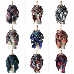 China Kids Plaid Scarves Baby Striped Tassels Scarf Tartan Scarf Wraps Fashion Neckerchief Winter Shawl Ring Muffler Blankets 50 PCS YYA572 cheap baby scarfs fashion suppliers