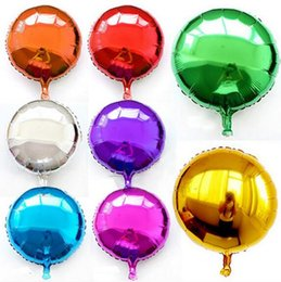 Happy silver online shopping - Popular inch Foil Balloon Party Inflatable Balls Silver Wedding Decoration Happy Birthday Inflatable Toys Air Balloons