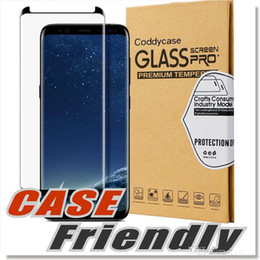 Japanese screen protector online shopping - For Samsung Galaxy S8 Plus Screen Protector Case Friendly Tempered Glass Satisfaction Guarantee Premium Japanese Asahi Glass