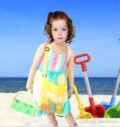 Discount sand tote - Kids Toys Beach Mesh Bags Sand Water Away Tote Pouch Handbag Buggy Storage Bag Mesh Shell Beach Bags Sandpit Beach Recei