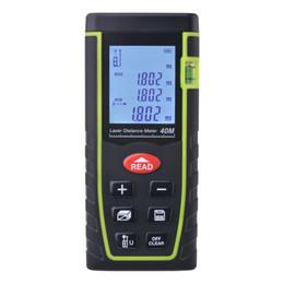 Venta al por mayor de 7-Key 40M / 80M Digital LCD Laser Distance Meter Range Finder Medida Diastimeter BI529 / 530