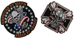 motorcycle club jackets 2019 - Cheap 2pcs set Skull Biker Iron On Patch Motorcycle Biker Club MC Front Jacket Vest Patch Detailed Embroidery Free Shipp
