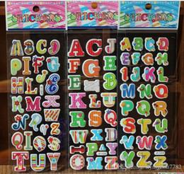 Vente en gros Stickers chambre d \ 'enfants stickers muraux cecor ABC NUMÉRO Animaux Cartoon enfants petits autocollants jouets 17 * 7 cm