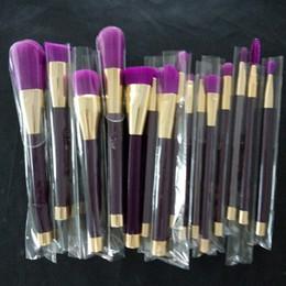 $enCountryForm.capitalKeyWord Canada - 15pcs Purple Green Makeup Brushes Set Make Up Brush Tools Cosmetic Professional Foundation Brush Kits Blending Pencil