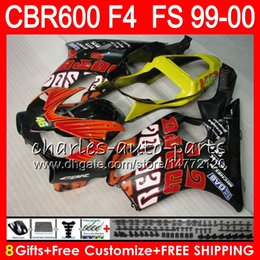 99 cbr f4 fairings repsol Australia - 8Gifts 23Colors Bodywork For HONDA CBR 600 F4 99-00 CBR600FS FS 30NO33 Repsol red CBR600 F4 1999 2000 CBR 600F4 CBR600F4 99 00 Fairing Kit