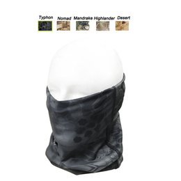 TacTical painTball equipmenT online shopping - Outdoor Sports Gear Airsoft Paintball Shooting Equipment Mask Tactical Airsoft Typhon Camouflage Mask Neck Gaiter