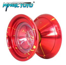 classic yoyo UK - MAGICYOYO K8 Leopard Head Aluminum Alloy Professional Magic Yoyo YO-YO Classic Toys Gift For Kids Children