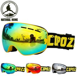 Discount ski goggles kids - Wholesale- NaturalHome 2017 New Kids Children Ski Goggles Double Lens Anti-fog Professional Ski Glasses Unisex COPOZZ Sn