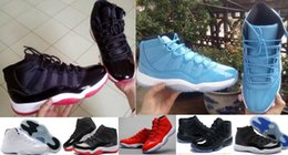 Glitter Store NZ - Gamma Blue 11s Basketball Shoes Athletic Shoes High Quality 11 BRED Sports Shoes Factory Store With Box Sneakers Midnight Navy 7-12