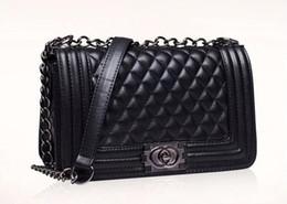 Nude color leather haNdbag online shopping - Top Fashion Woman Bag Promotional Ladies luxury PU Leather Handbag Chain Shoulder Bag Plaid Women Crossbody Bag