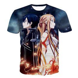 $enCountryForm.capitalKeyWord UK - New Anime Sword Art Online T-shirts tees SAO t shirts Women Men Summer Casual tee shirts 3d t shirt camisetas masculina