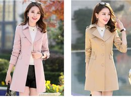 $enCountryForm.capitalKeyWord Canada - Spring Autumn New Slim Thin Joker Women's Trench Coats Your Waist coat Medium Style tide POLO collar Single-Breasted