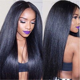 wholesale brazilian virgin hair NZ - Brazilian Hair Light Yaki Human Hair Extensions Natural Black 100g Brazilian Hair Bundles Italian Coarse Yaki Virgin Extensions