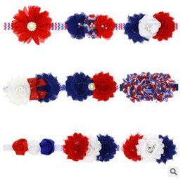 $enCountryForm.capitalKeyWord NZ - 4th of July Headband American Flag Independence Day Sequins Pearl Flower Headband for Baby Girl American Flag Hair Accessories 635