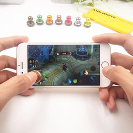 iphone 6s screens NZ - game Joystick soft sucker metal for iPhone 7 6 6s plus s8 mobile phone game joystick Capacitance screen mini mobile phone handle USZ140