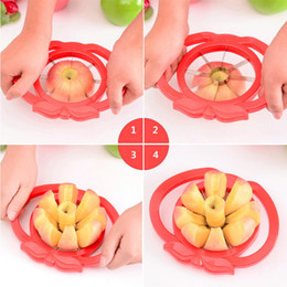 slicer easy cutter NZ - Apple Slicer Corer Wedge Cutter Pear Fruit Divider Pie Comfort Handle easy cutter apple-pear fruit slicer Free shipping