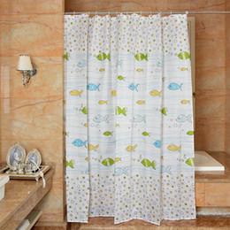 $enCountryForm.capitalKeyWord Australia - Waterproof Shower Curtain 100% Polyester mildew thick Bathroom Curtains ocean Bubble fish Pattern with Hooks Free print wholesale LJ014