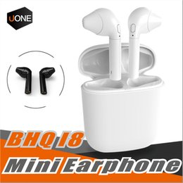 earset iphone Australia - HBQ i8 Bluetooth earset twins Wireless in-ear Headsets Earbuds 4.1 stereo split Bluetooth headset with Portable charging for Samsung