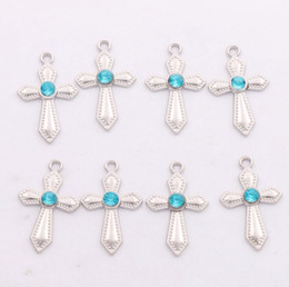$enCountryForm.capitalKeyWord Canada - Sword Shaped Rhinestone Crystal Cross Charms 300pcs lot 12X20mm 6Colors Pendants Jewelry Findings & Components Fit Bracelets Necklaces