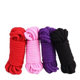 $enCountryForm.capitalKeyWord UK - 5m 10m Long Thick Strong Cotton Rope Fetish Sex Restraint Bondage Harness Ropes Adult Game Flirting Toys for Women Men 4 Colors