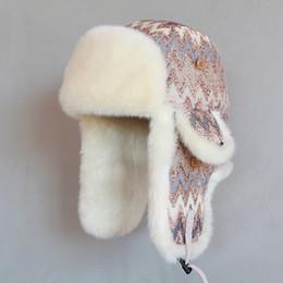 $enCountryForm.capitalKeyWord Australia - Wholesale- Winter Women Bomber Hat Wool Knitted Hat Russian Ushanka Thicken Warm Plush Snow Cap Earflaps Trapper Hats