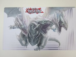 game yugioh 2019 - Pro white dragon Custom made of card cushion Yugioh site Cartoon games Complimentary card packing bag